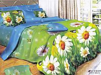 """Комплект постельного белья двуспальный евро, 3D """"Летняя полянка"""""""