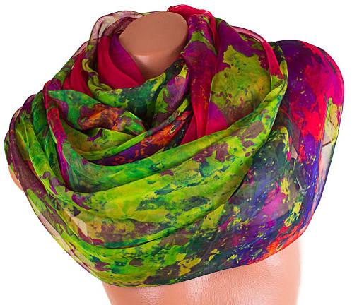 Роскошный женский шарф из шифона 202 на 140 см. ETERNO (ЭТЕРНО) P-P-74