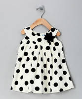 Изумительное детское платье в крупный горох для девочки