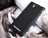 Чехол Nillkin для Sony Xperia С3 чёрный  (+плёнка)