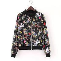 Спортивная куртка в цветочек