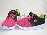 Кроссовки для девочки розовая сетка модель 27р.