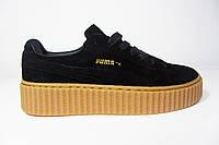 Женские кроссовки Puma, замша, черные, Р. 36 41
