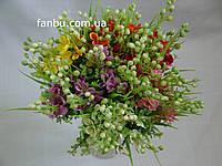 Комплект из 5 букетов  искусственного растения коровяк (1желт,1сирен,1красн,1оранж,1розов)