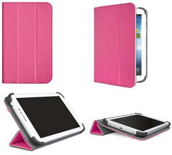 Легкий чехол BELKIN Tri-Fold Cover Stand Galaxy Tab3 7.0 (Pink) F7P120vfC02