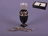 """Набор чайных ложечек из 6 шт. на подставке """"Подарок"""""""
