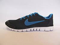 Кроссовки подростковые Nike Free Run сетка, синие (найк фри ран)р.37,38,39,40
