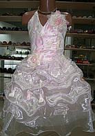 Нарядное платье Лилия  для выпускного розовое