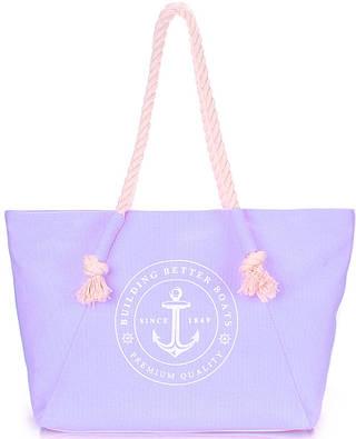 Женская коттоновая оригинальная сумка с трендовым принтом POOLPARTY pool-breeze-lilac