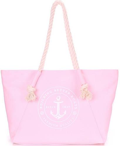 Женская коттоновая яркая сумка с трендовым принтом POOLPARTY pool-breeze-rose