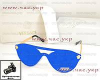 Женские солнцезащитные очки Versace зеркальные синие безоправные качество ААА модель 2016 года