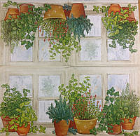 """Салфетка для декупажа """"Травы на окне""""  33*33см"""