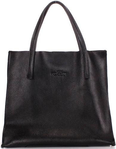 Женская элегантная из натуральной кожи сумка POOLPARTY soho-versa-black