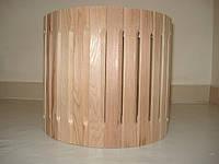 Абажур из кедра для светильника наборной угловой малый