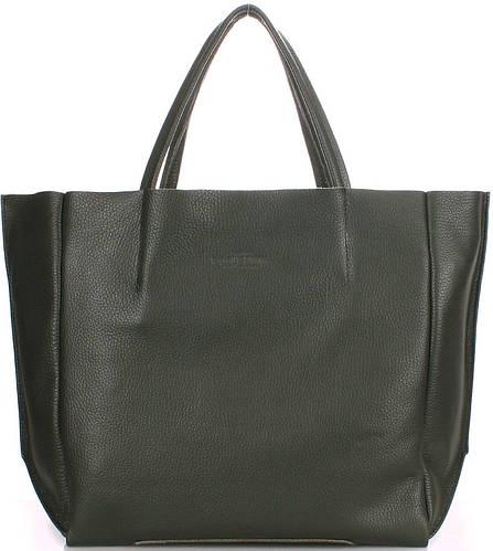 Женская качественная из натуральной кожи сумка POOLPARTY soho-khaki