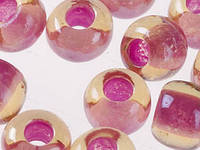 Чешский Бисер Preciosa (цвет: 11028, розово-клюквенным с янтарным отверстием), 5г