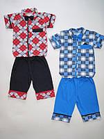 Костюм для мальчикас рубашкой, шортами и бабочкой