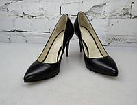 """Туфли """"Лодочка"""" из натуральной кожи, черные"""