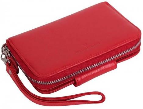 Яркая женская борсетка-кошелек Vip Collection 1530R flat красный
