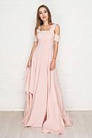2177 Восхитительное платье в пол розового цвета