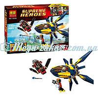 """Конструктор Bela Super Heroes """"Супергерои"""": 195 деталей, 3 фигурки, транспорт"""