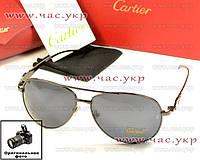 Мужские солнцезащитные очки Cartier Картье стекло 2016 стеклянянные линзы качественная копия