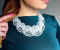 Колье женское Ашанти белое, ожерелье
