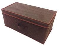 Коробка для хранения вещей Ромб (58х30х25см) Коричневый