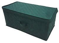 Коробка для хранения вещей Ромб (58х30х25см) Зеленая