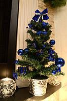 Елка искусственная украшеная синяя  0305 B