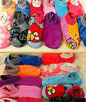 Тапочки-ботиночки махровые для взрослых.