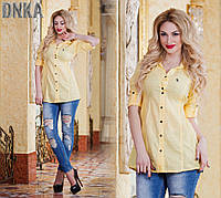 Женская однотонная рубашка