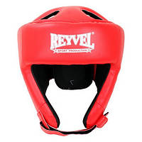 Шлем боксерский Reyvel винил (2) M, Красный