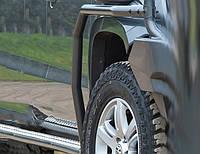 Боковые защитные пороги для Volkswagen Amarok 2010+ DC (4470010)