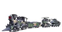 Военная железная дорога  на радиоуправлении