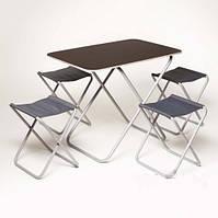 """Складной стол со стульями 4 шт """"Пикник"""", в сумке"""