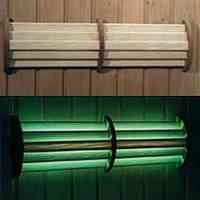 Светильник светодиодный LED 54 с ПУ и цв. подсветкой для бани и сауны