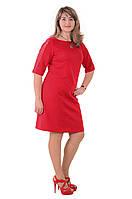Красное платье нарядное ,трикотажное Пл 178-5