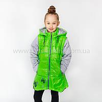 """Яркая стильная куртка-жилет для девочки  подростка """"Батефлай""""36р"""