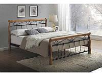Кровать Venecja 160 x 200 Дуб + черный