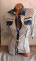 Стильная рубашка-блуза с креп-шифона для девочки