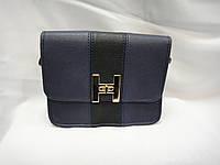 Женская сумка клатч в стиле  Hermes темно синего цвета