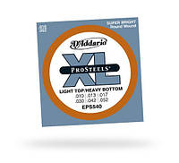 Струны D`ADDARIO EPS540 XL PRO STEELS LIGHT TOP / HEAVY BOTTOM 10-52