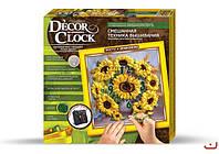 """Danko Toys Смешанная техника вышивания DECOR CLOCK  """"Подсолнухи"""" арт. DC-01-05"""