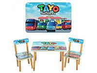 Столик 501-21  деревянный, 60-40см, 2 стульчика, TAYO, в кор-ке