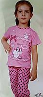 Пижама для девочки №85166 (капри)