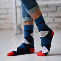 Классические мужские носки с цветным рисунком арт.244 (Дюна)