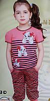 Пижама для девочки №85119 (капри)