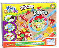 Тесто для лепки Kid's Dough набор для приготовлении Пиццы и Пасты