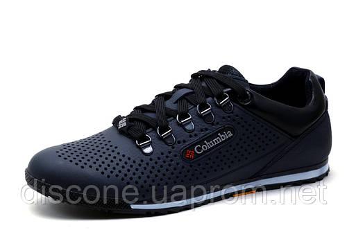 Туфли мужские Columbia, спортивные, темно-синие, кожа